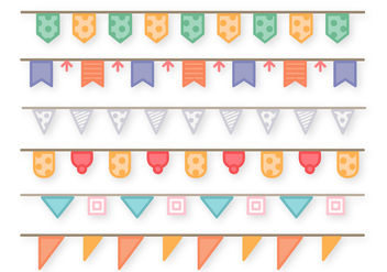Free Garlands Vector - бесплатный vector #391517