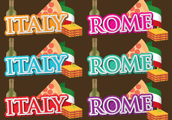 Italy And Rome Titles - vector gratuit #391777