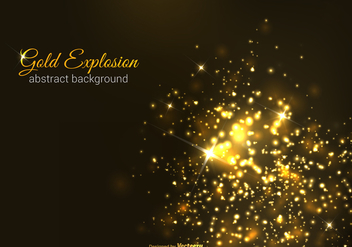 Free Gold Explosion Vector Background - Kostenloses vector #391797
