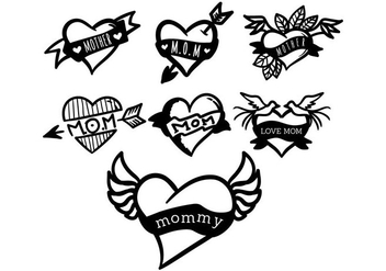 Mom Tattoo Vector - Kostenloses vector #391827