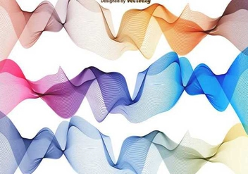 Vector Set Of Abstract Waves - vector gratuit #391857