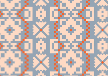 Traditional Rustic Pattern - vector gratuit #391997
