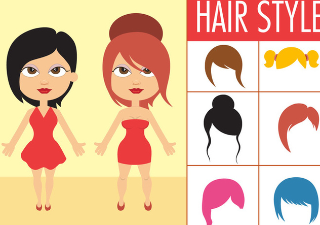 Free Collection Of Female Hair Style - vector gratuit #392017