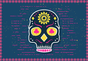 Free Halloween Sugar Skull Vector Illustration - бесплатный vector #392117