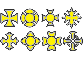 Maltese Cross Icons - vector #392167 gratis
