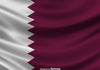 Illustration Of Qatar Flag - Vector - бесплатный vector #392197