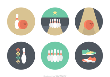 Free Flat Bowling Vector Icons - Free vector #392247