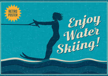 Free Enjoy Water Skiing Vector Poster - Free vector #392267