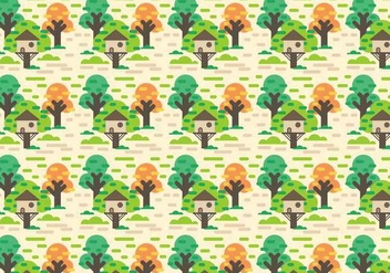 Free Tree House Vector - vector gratuit #392297