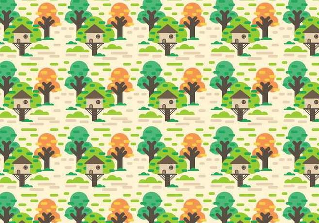 free tree house vector kostenloser vektor download 392297 tree house in autumn Autumn Country House