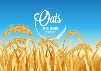 Free Oats Field Vector - бесплатный vector #392337