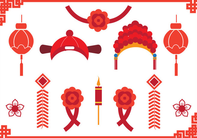 Chinese Wedding Element - Free vector #392447