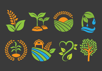 Agro and Farm Logo Vectors - vector gratuit #392457