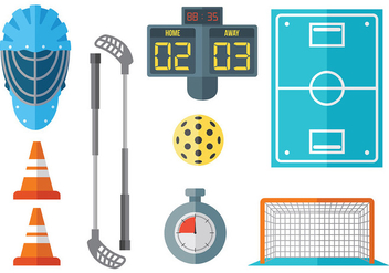 Free Floorball Icons Vector - vector gratuit #392607