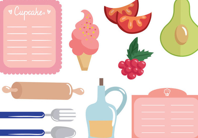 Free Recipe Cards Vectors - Free vector #392627