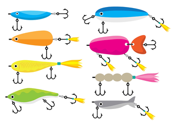 Fishing Lure Icons - Free vector #392677