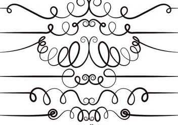 Vector Set Of Scrollwork Elements - vector #392697 gratis