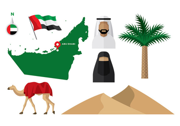 UAE Map Vector - vector #392817 gratis