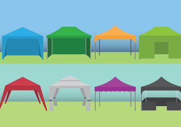 Event Tent Set - vector #392827 gratis
