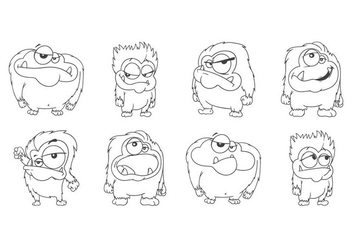 Free Cartoon Yeti Vector - vector #392847 gratis