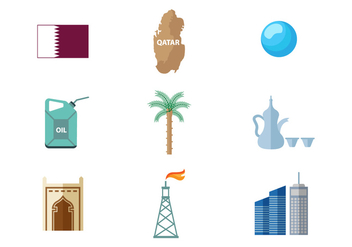 Free Qatar Icons Vector - Free vector #392887