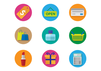 Free Shopping Icons Vector - vector gratuit #392897