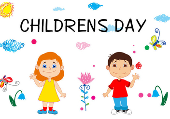 Happy Childrens Day concept - vector gratuit #392927