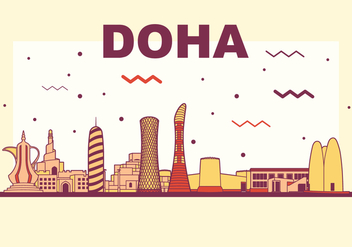 Doha Vector Skyline - бесплатный vector #392947