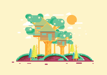 Treehouse 2 Vector - Free vector #393117