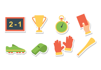 Free Soccer Sticker Icons - Free vector #393127