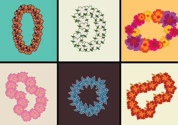 Hawaiian Lei Vector Illustrations - Free vector #393187