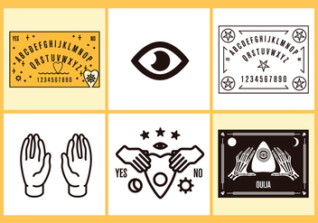 Ouija Vector Illustrations - vector gratuit #393197