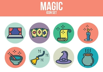 Free Magic Icon Set - vector #393207 gratis
