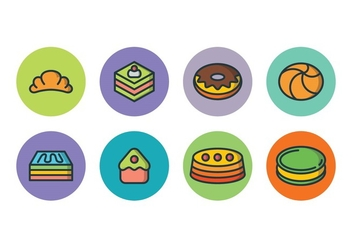 Free Cake Icon Set - vector gratuit #393217