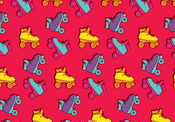 Retro Roller Skates Pattern Background - бесплатный vector #393257