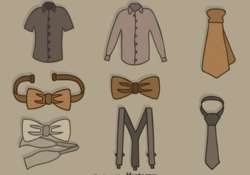 Hand Drawn Man Accessories Vector Set - Free vector #393347