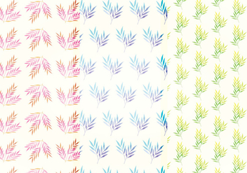 Vector Watercolor Branch Patterns - Free vector #393367