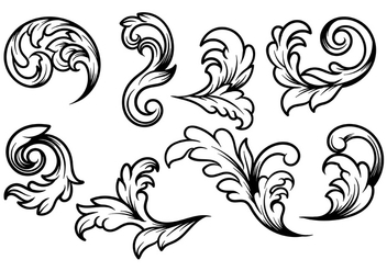 Acanthus Vector - Free vector #393397