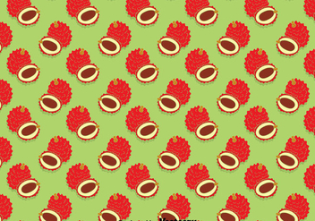 Lychee Fruits Seamless Pattern - vector gratuit #393417