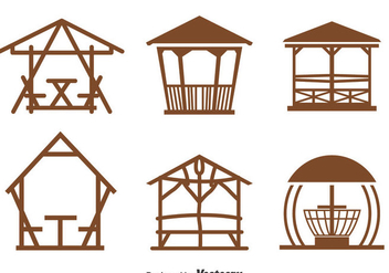 Gazebo Collection Vector - vector gratuit #393427