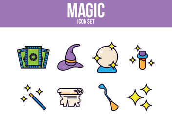 Free Magic Icon Set - vector #393457 gratis