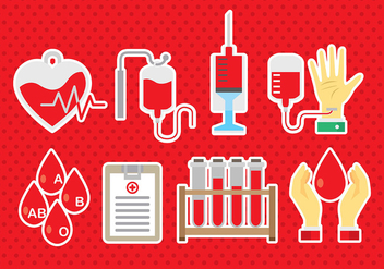 Blood Drive Icons - vector #393467 gratis