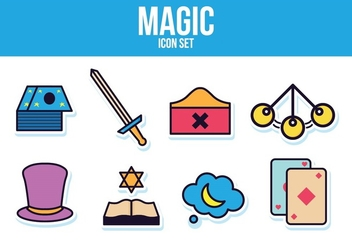 Free Magic Icon Set - vector #393487 gratis