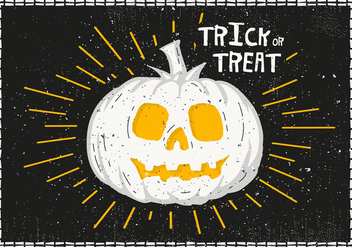 Bright Halloween Pumpkin Vector Illustration - vector gratuit #393537