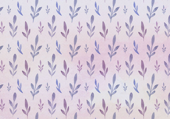Free Vector Watercolor Leaves Pattern - Free vector #393547