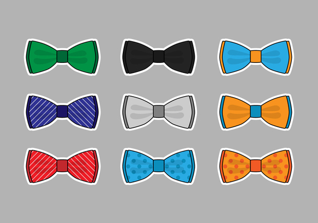 Colorful Papillon Vector Set - vector gratuit #393577