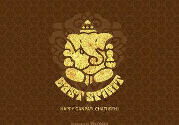 Free Happy Ganpati Chaturthi Vector Card - Free vector #393627