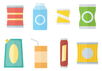 Free Sachet Icons Vector - Free vector #393637
