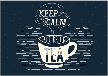 Tea Vector Typography - vector gratuit #393717