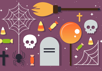 Free Halloween Vector Elements - бесплатный vector #393727